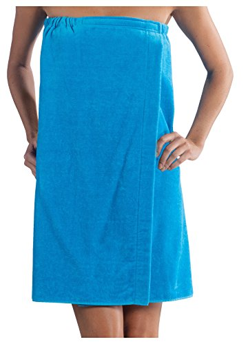 robesale Terry Cotton Women Shower Cover up, Aqua, S/M Size ()