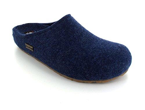 Haflinger Michl 711033 - Zapatillas de casa de fieltro unisex azul - Blue - Blau (jeans 272)