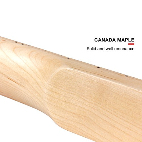 Kmise DIY Parts Clear Satin Maple 22 Fret Bolt on Paddle Headstock Electric Guitar Neck (4334250134) by Kmise (Image #6)'