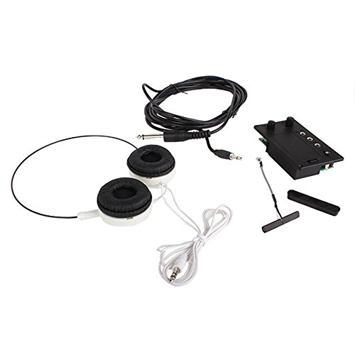 Surfing Electric Violin Silent EQ Pickup Piezo with Headphone and Plug Hole Cable Set ()