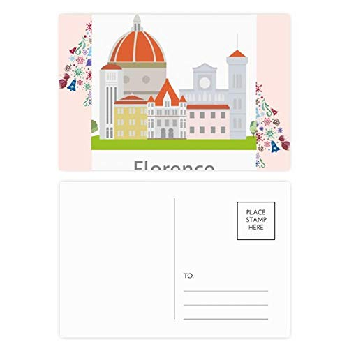 Italy Florence Landscape National Pattern Christmas Tree Postcard Thanks Card 20pcs ()
