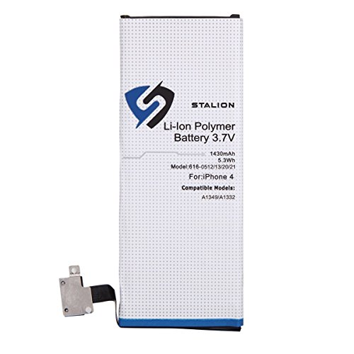 iPhone 4 Battery : Stalion Strength Replacement Li-Ion Polymer Battery 1420mAh 3.7V for iPhone 4 (4G)[24-Month Warranty](compatible with GSM & CDMA Models A1349 / A1332) (Battery For Iphone 4 Model A1349)