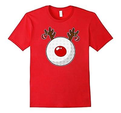 Reindeer Golf T-shirt Funny Christmas Golf Clubs Gift