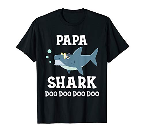 Fathers Day Gift from Wife Son Daughter Papa Shark Doo Doo T-Shirt