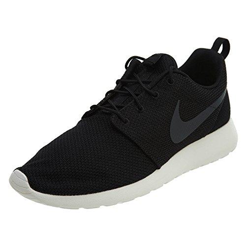 Nike Men's Roshe Run Black/Anthracite-Sail,8 D(M) US