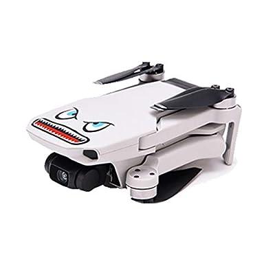 HuiKai Shark Face Design Sticker Decal Skin DIY Accessory Compatible with DJI Mavic Mini RC Drone: Clothing