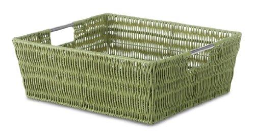 - Whitmor Rattique Shelf Tote Sage Green