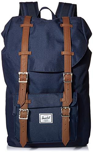 Herschel Little America Laptop Backpack, Navy/Tan