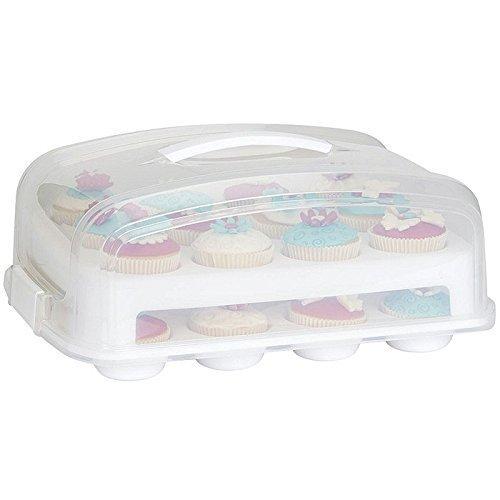 Patisse Cupcake transportbox voor 24 cupcakes en muffins 2 verdiepingen.