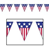 Package of 2 Spirit of America Pennant Banners/PATRIOTIC Party Supplies and Hanging Decorations