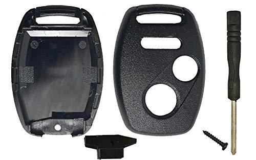 Key Fob Shell Case Fit for Honda 2010-2011 Accord Crosstour 2006-2011 Civic 2007 2010 2011 2013 CR-V 2011-2015 CR-Z 2009-2013 Fit 2011-2014 Odyssey 3 Buttons Car Key Fob Cover Shell