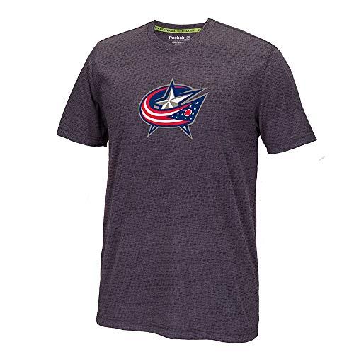 Reebok Columbus Blue Jackets TNT Center Ice Team Logo Speedwick Men's T-Shirt
