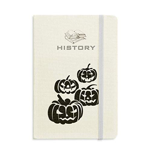 Four Black Halloween Pumpkins History Notebook Classic Journal Diary A5