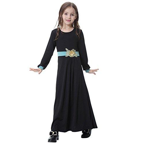MiyaSudy Girl Muslim Dresses Abayas and Jilbabs Robe Islamic Clothes by MiyaSudy