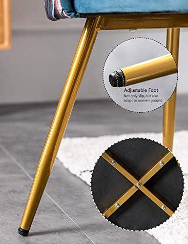 MIEMIE Stühle für Bequeme Besprechungsräume Stuhlsitz/Eisenbeine/Gestickte Rückenlehne Design Essküche