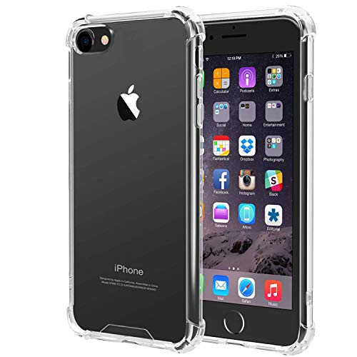 iPhone 6 Case,iPhone 6s case,iEugen Clear Premium Protective Case Cover Soft TPU Gel Bumper Slim Fit Heavy Duty Protection Anti-Scratch Shock Absorption Case for iPhone 6/6S cell phone-Clear