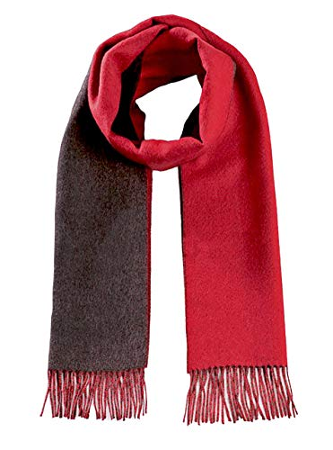Wool Natura Pure Baby (Alpaca Wool Scarf - 100% Pure Baby Alpaca - Double Sided Reversible Contrast Scarf (Red/Charcoal))
