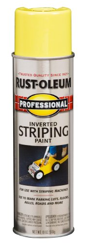 Rust-Oleum 2548838 Professional Stripe Inverted Striping Spray Paint, Yellow, 18-Ounce (Striping Spray Paint)