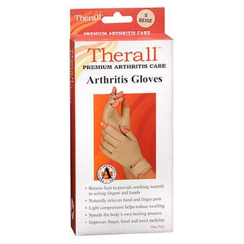 Therall Arthritis Gloves S Beige 1 Pair (Pack of 3)