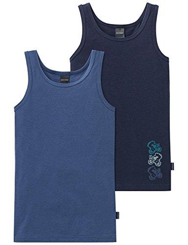 Schiesser Jungen Unterhemd 2Pack Tanks, 2er Pack, Mehrfarbig (Sortiert 1 901), 176