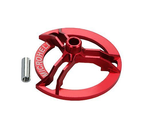 Precision CNC Alum Swashplate Leveler, Red by Microheli Co.