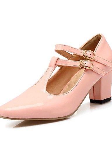 rosa boda de ocasional black ZQ zapatos las oto la red de tac¨®n charol cn34 us5 mujeres talones de primavera cn34 uk3 grueso verano uk3 red eu35 us5 cn39 buckleblue eu39 talones o uk6 eu35 us8 6xqHndx