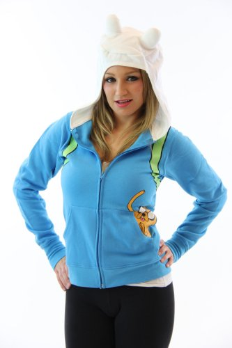Adventure Time Finn The Human Juniors Light Blue