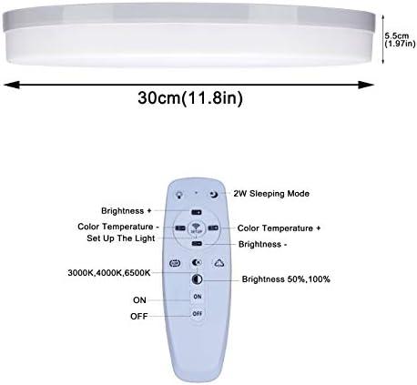 Yafido LED Deckenleuchte Dimmbar 36W mit Fernbedienung 2700K-6500K Einstellbare Beleuchtung und Helligkeit Deckenlampe Geeignet füR 15-25㎡ Ideal füR Wohnzimmer Schlafzimmer Esszimmer Kinderzimmer