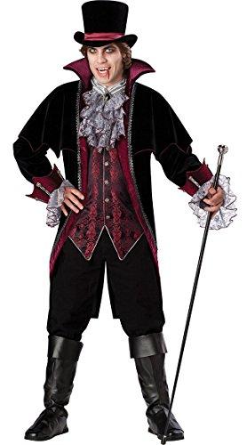 InCharacter Costumes Men's Vampire Of Versailles Costume, Black/Burgundy,