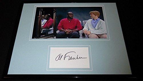 Al Franken Signed Framed 11x14 Photo Display SNL Stuart Smalley w/Michael Jordan