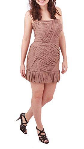 Intermix Jessica Strapless Charmeuse Dress, Dusty Rose, Medium (Intermix Clothing)