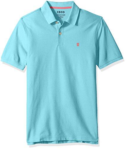 (IZOD Men's Regular Fit Advantage Performance Short Sleeve Solid Polo, deep Blue Radiance,)