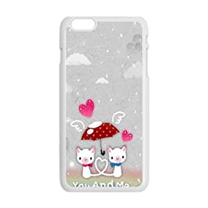 you and me snow love personalized high quality cell phone case for Iphone 6 Plus