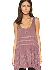 Free People New Womens Voile Tiny Dot Trapeze Slip Dress The Originals Fawn X Small