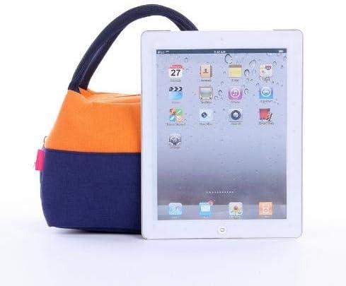 iTemer 1 pieza multifunci/ón de gran capacidad costura gruesa lienzo de color bolsa de almuerzo bolsa de almuerzo bolsa de almacenamiento de picnic al aire libre Amarillo