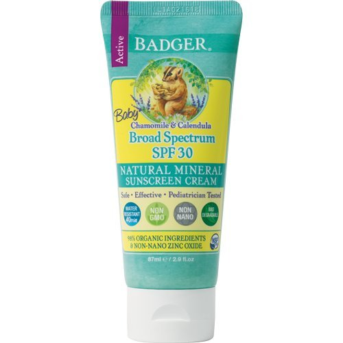 Baby Sunscreen Cream by Badger - SPF 30-2.9 Ounce Tube