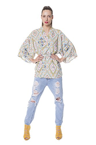 Kimono Pullover (Sava Women's Kimono Cardigan Loose Cover Up Top Blouse Rayon Cotton For Casual Wear Fitness Nightwear Yoga)
