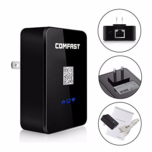 COMFAST 150Mbps 3-In-1(Super Intelligent Wireless Repeater, Wireless Router and Wireless AP) by ELEGIANT Multifunctional Wall-Plugged Smart Wireless Repeaters for Home Travel Office Hotel by ELEGIANT (Image #2)