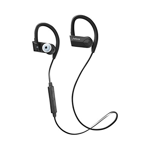 (Jabra Sport Pace Black Wireless Headphones (Renewed))