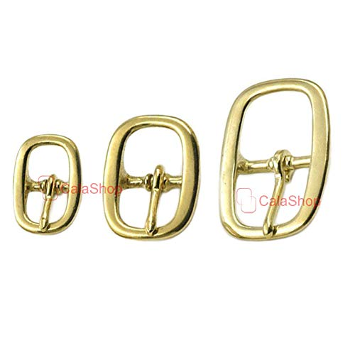 Buckes - 2 Pcs/Lot 19mm 25mm 38mm Solid Brass Center Middle Roller Bar Halter Buckle Leather Craft Fabric Strap Clothes Belt - (Size: 38mm)