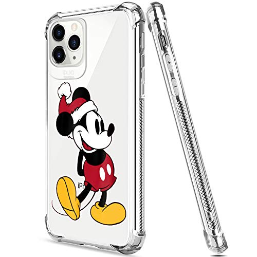DISNEY COLLECTION iPhone 11 Pro Case 2019 5.8 Inch Christmas Mickey Soft Flexible TPU Ultra-Thin Shockproof Transparent Bumper Protective Cover Case (For 2019 Christmas Iphones)