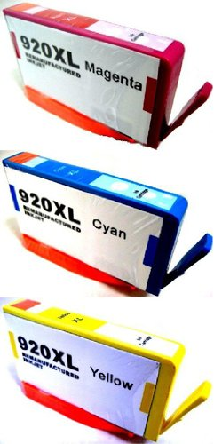 HouseOfToners Remanufactured Ink Cartridge Replacement for HP 920XL (CD9742AN) (Cyan, Magenta, Yellow, 3-Pack)