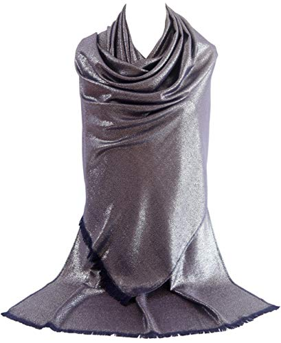 MissShorthair Women's Metallic Soft Pashmina Shawl Wrap Scarf in Solid Colors (27