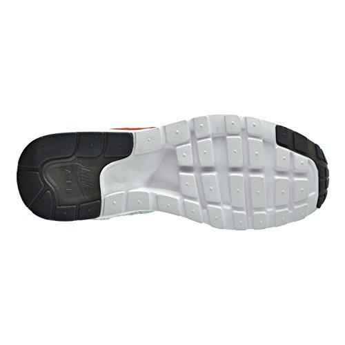 Nike Air Max 1 Ultra-flyknit Dames Sportschoenen Wit / Universiteit Rood / Zuiver Platina
