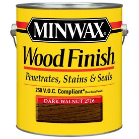 Minwax 71012000 Wood Finish Penetrating Stain, gallon, Dark Walnut