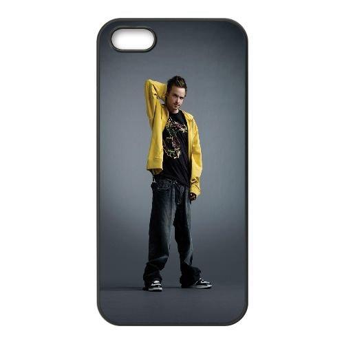 Jesse Pinkman1 coque iPhone 5 5S cellulaire cas coque de téléphone cas téléphone cellulaire noir couvercle EOKXLLNCD24780