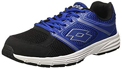 Lotto Men's Fausto Grey and Black Running Shoes - 6 UK/India (40 EU) (AR4796-202)
