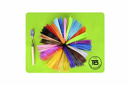 3D Pen Filament Refills ABS 26 Piece Kit! 26 Colors. 6 Glow in the Dark Colors.1.75mm , 572 Linear Feet (22 Feet Each) BONUS Free Spatula Mat Pouch PDF Stencils. High grade Filament Bundle