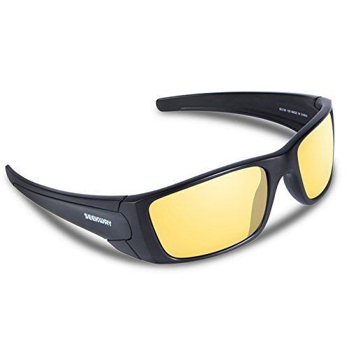 SEEKWAY Polarized Outdoor Sports Sunglasses For Cycling Driving Fishing Golf Baseball SWC082 (black, night - Basketball Best Glasses