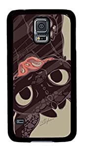 Creative GOOD S5 Case, Galaxy S5 Cases, VUTTOO Personalize Toothless How To Train Your Dragon Protective Case Cover for Samsung Galaxy S5 Hard PC Black